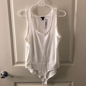 New with tags Jcrew white tank body suit